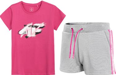 Zestaw sportowy 4F dziewczęcy t-shirt + szorty