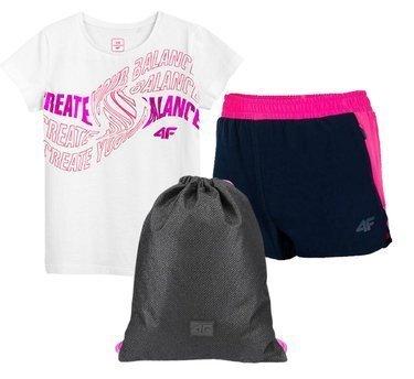 Zestaw sportowy 4F t-shirt, spodenki, worek
