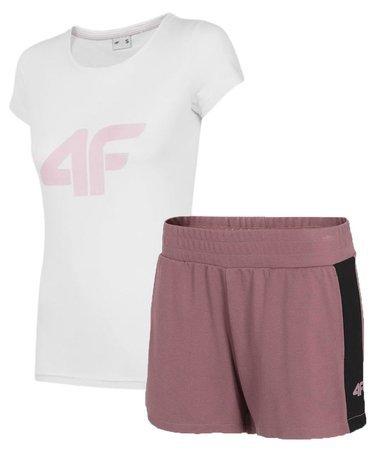Zestaw sportowy damski 4F t-shirt + spodenki