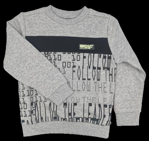 Bluza chłopięca 4F JBLM007 jasny szary