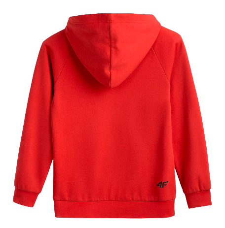 Bluza chłopięca 4F kangurek JBLM002 czerwona