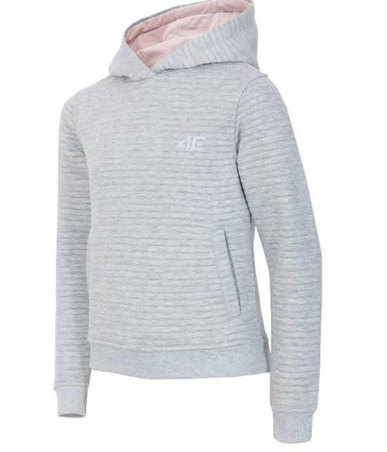 Bluza dziecięca 4F sportowa JBLD202 szara