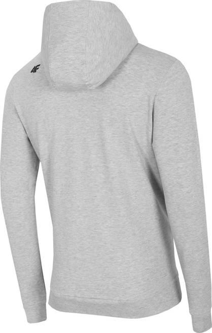 Bluza męska 4F BLM017 z kapturem jasno szara