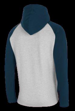 Bluza męska OUTHORN BLM611 szara na zamek