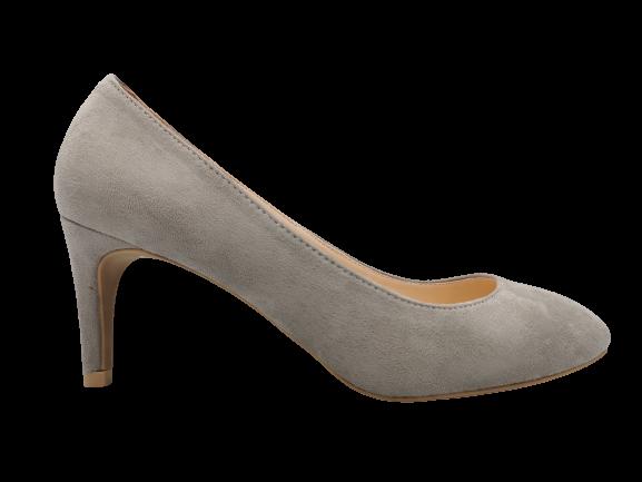 Buty damskie na obcasie wygodne 1405-5 szare