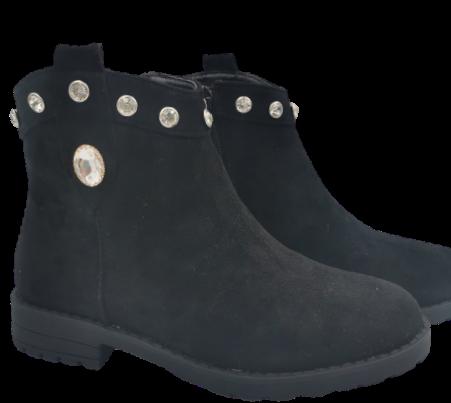 Buty dziecięce botki KID079 L jesienne czarne
