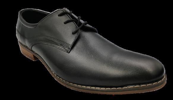 Buty eleganckie skórzane 070 czarne