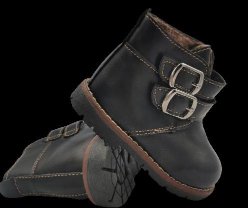 Buty jesienne dziecięce C-19 czarne trzewiki