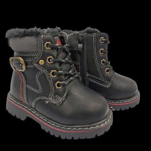 Buty jesienne dziecięce C1274 czarne trapery