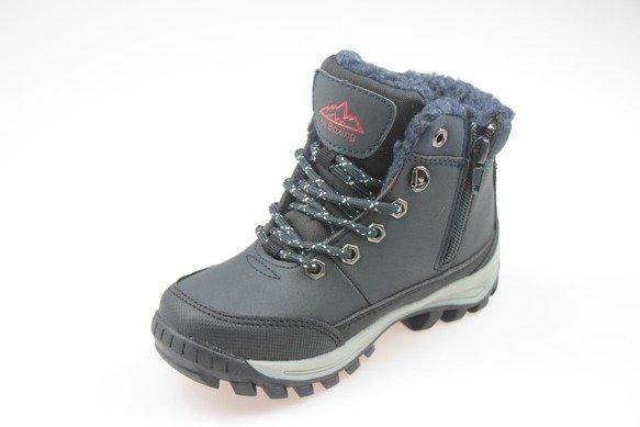 Buty zimowe chłopięce trapery ciemny granat 32