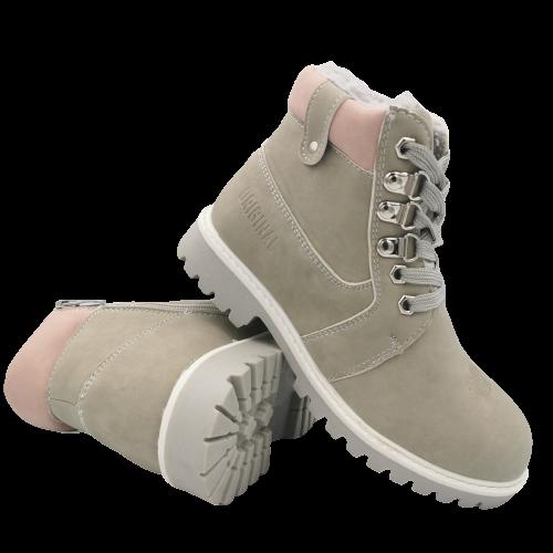 Buty zimowe dziecięce trapery 5W-DY86245 szare