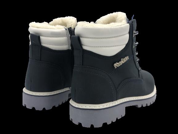 Buty zimowe dziecięce trapery C184A-12 granat