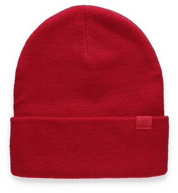 Czapka zimowa damska 4F CAD006 czerwona