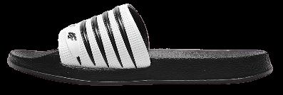 Klapki damskie 4F KLD001 czarno-białe