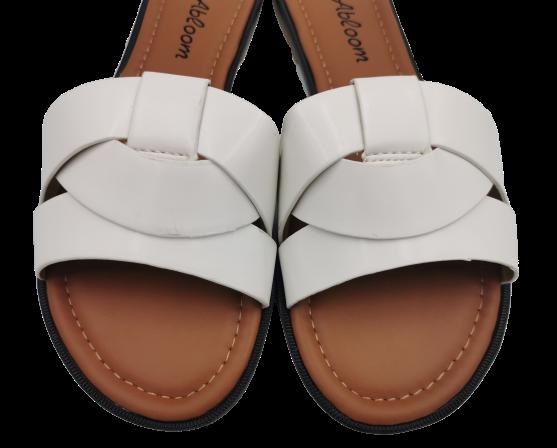 Klapki damskie białe eleganckie LS-89092 WHITE