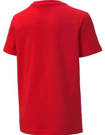 Koszulka dziecięca z bawełny PUMA czerwona