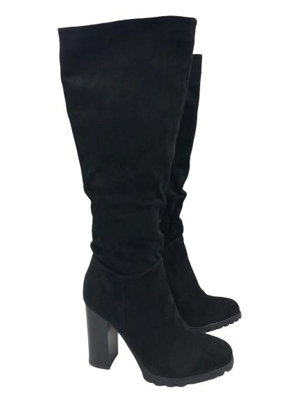 Kozaki damskie obuwie czarne wysokie F165