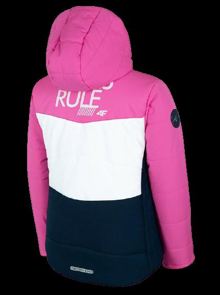 Kurtka narciarska dziewczęca 4F JKUDN002