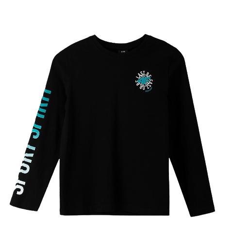 Longsleeve chłopięcy 4F JTSML001 bluzka czarna