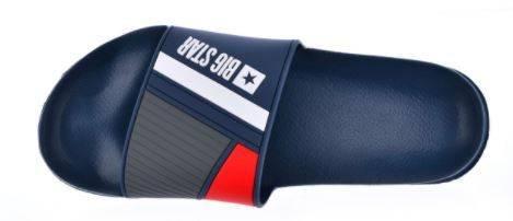 Męskie klapki BIG STAR HH174837 granat