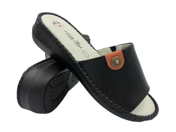 Obuwie medyczne SL20008-1 klapki zdrowotne czarne