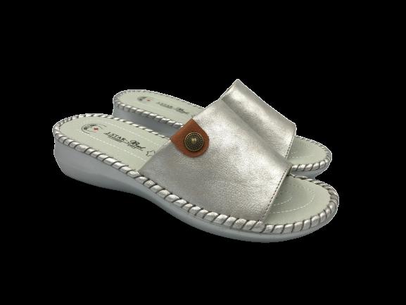 Obuwie medyczne klapki zdrowotne SL20008 srebrne