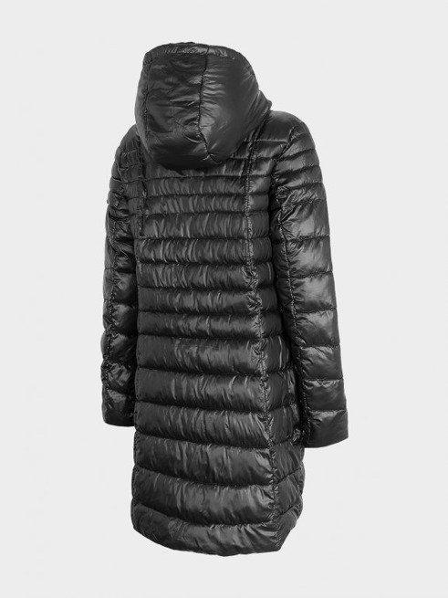 Płaszcz puchowy pikowany Outhorn KUDP605 czarny