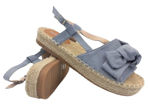 Sandały damskie obuwie niebieskie 3197