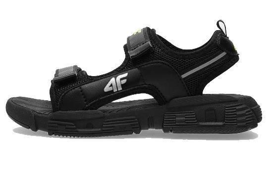 Sandały młodzieżowe JSAM002 na rzepy czarne