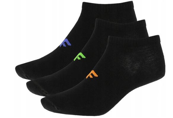 Skarpety stopki 4F SOM006 3-pak czarne