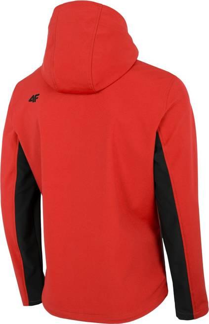 Softshell męski 4F SFM002 kurtka czerwona