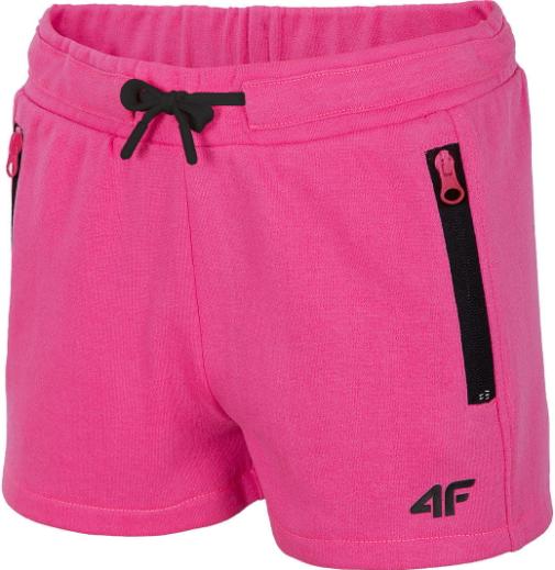 Spodenki dziewczęce 4F JSKDD002A różowe