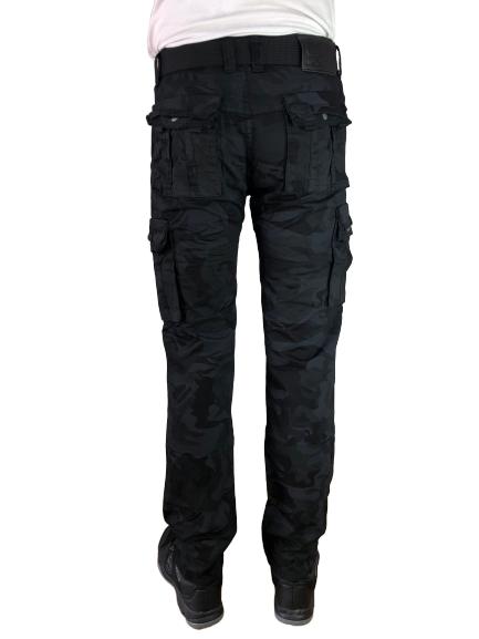 Spodnie bojówki myśliwskie czarne moro DM2096 1