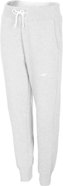 Spodnie damskie 4F SPDD001 dresowe biały melanż