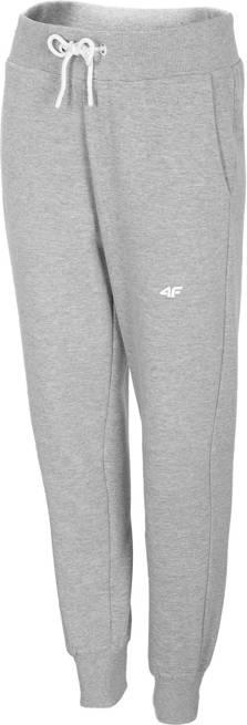Spodnie damskie 4F SPDD001 dresowe jasny szary