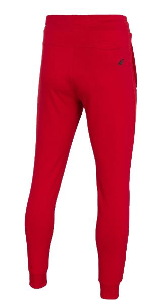 Spodnie męskie 4F SPMD011 dresowe czerwone