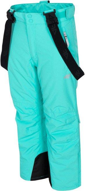 Spodnie narciarskie 4F JSPDN001 miętowe