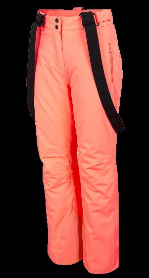 Spodnie narciarskie damskie 4F SPDN001 neonowe