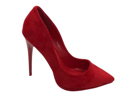 Szpilki damski czółenka czerwone YES-82257-2