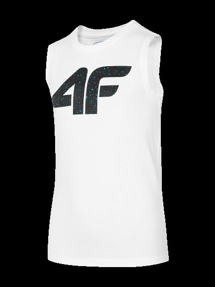 T-shirt chłopięcy 4F JTSM011A biały bawełna