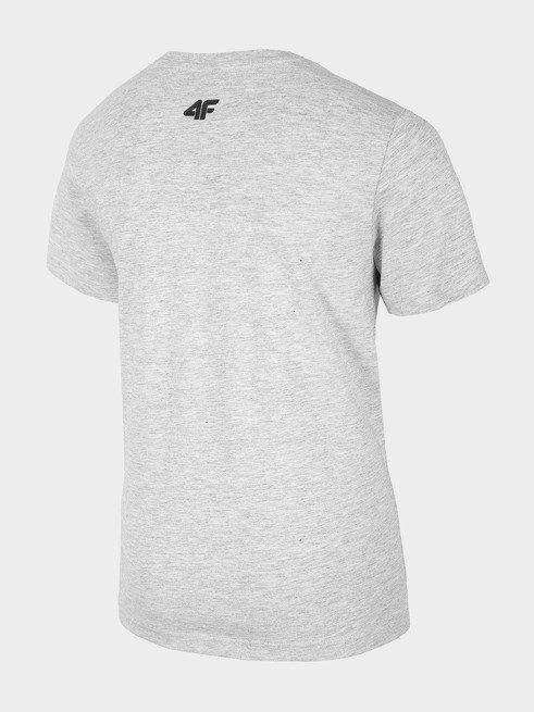 T-shirt chłopięcy 4F JTSM011B ŚREDNI SZARY MELANŻ