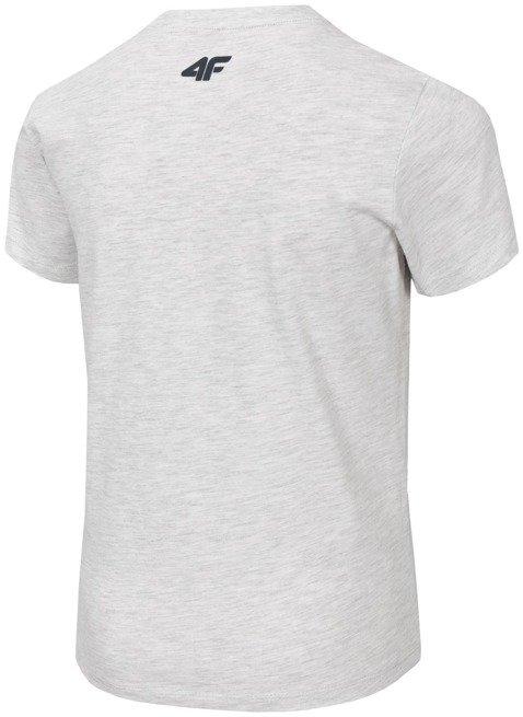 T-shirt chłopięcy 4F JTSM021 SZARY MELANŻ