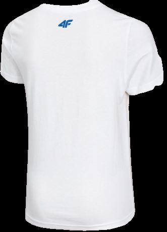T-shirt chłopięcy 4F biały JTSM010A bawełniany