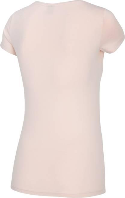 T-shirt damski 4F TSD014 różowy bawełniany