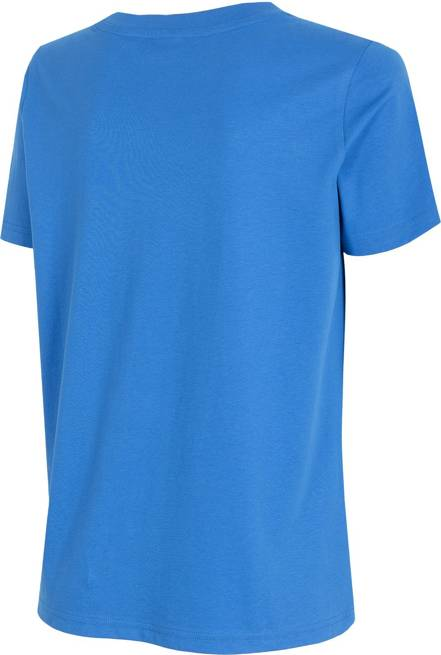 T-shirt damski 4F TSD017 bawełniany niebieski