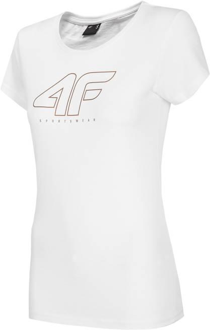 T-shirt damski 4F TSD022 BIAŁY