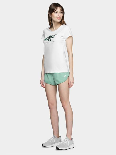 T-shirt damski 4F TSD030 biały bawełniany