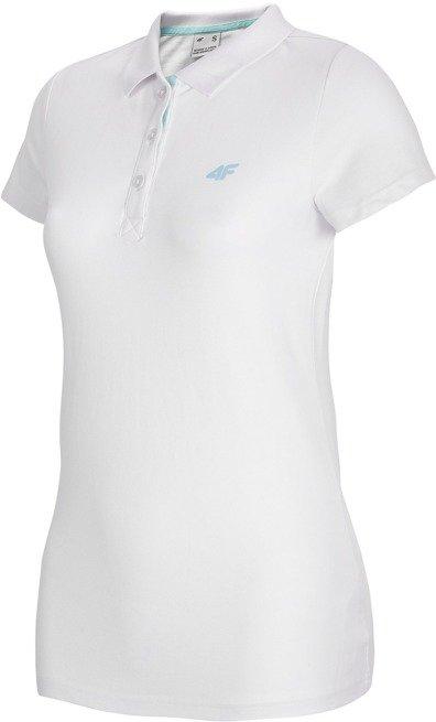 T-shirt damski POLO 4F TSD007 BIAŁY