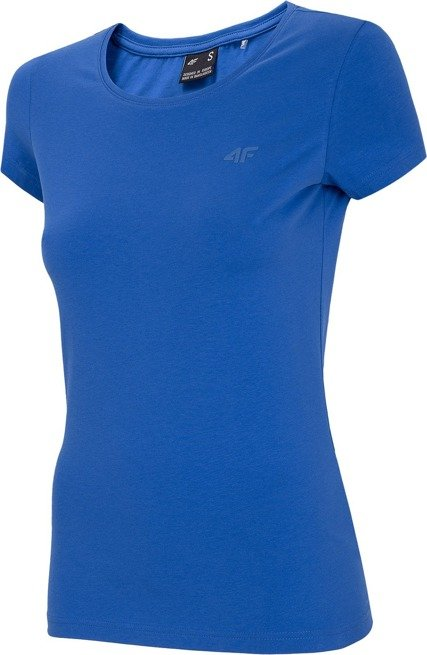 T-shirt damski bawełniany 4F TSD001 KOBALTOWY