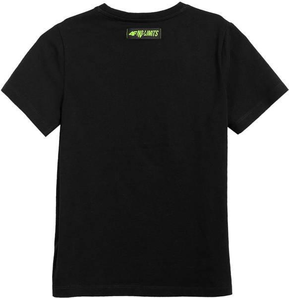 T-shirt dziecięcy 4F bawełniany JTSM003 czarny